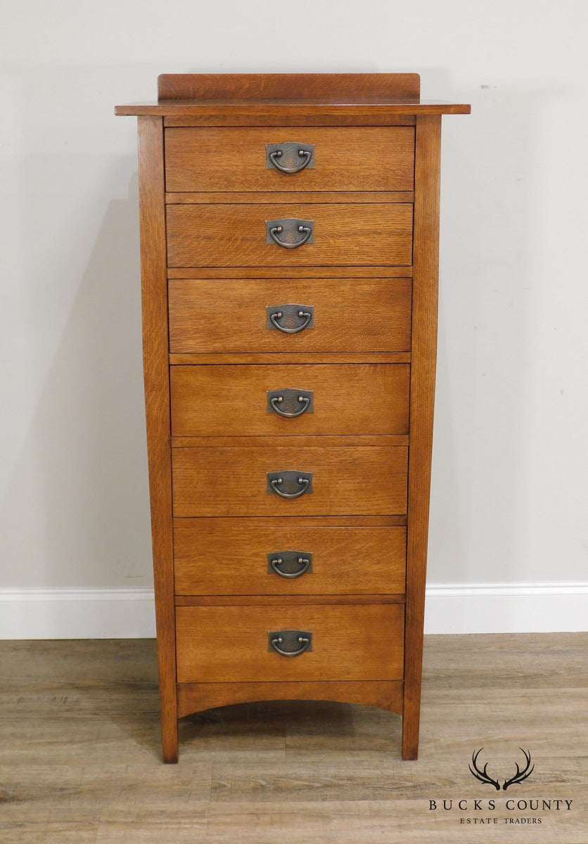Stickley Mission Collection Oak Lingerie Chest Bucks