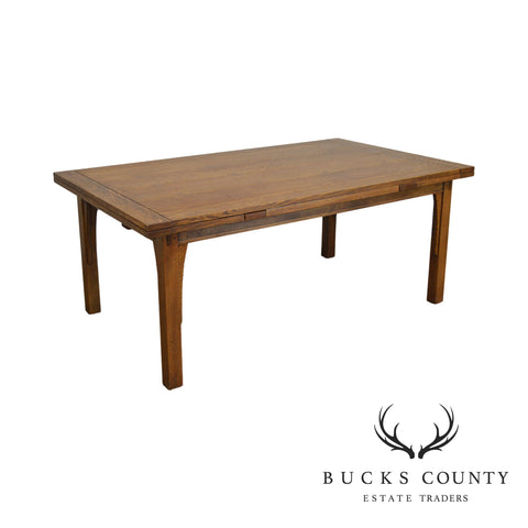 Stickley Mission Collection Oak Draw Top Dining Table (B)