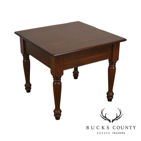 Traditional Solid Cherry Square Side Table