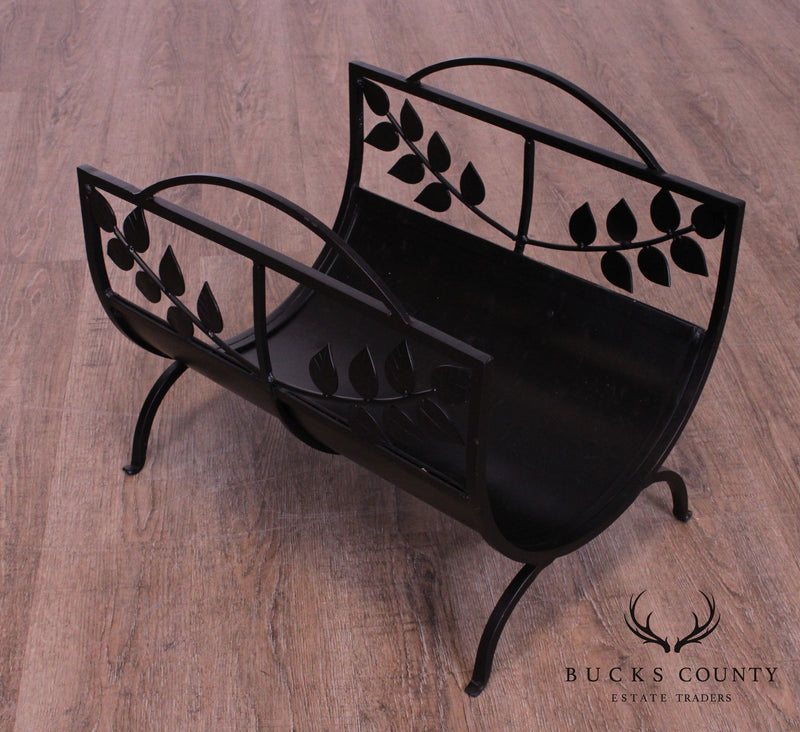 Quality Wrought Iron Fireplace Log Holder