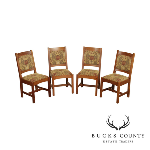 Stickley Mission Collection Set 4 Cherry Dining Chairs