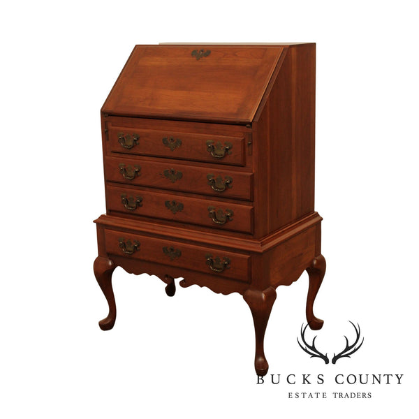 Maddox Vintage Cherry Queen Anne Style Slant Front Writing Desk