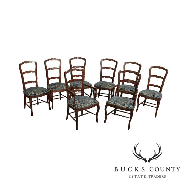 Freemarc Designs French Country Style Set 8 Ladderback Dining Chairs