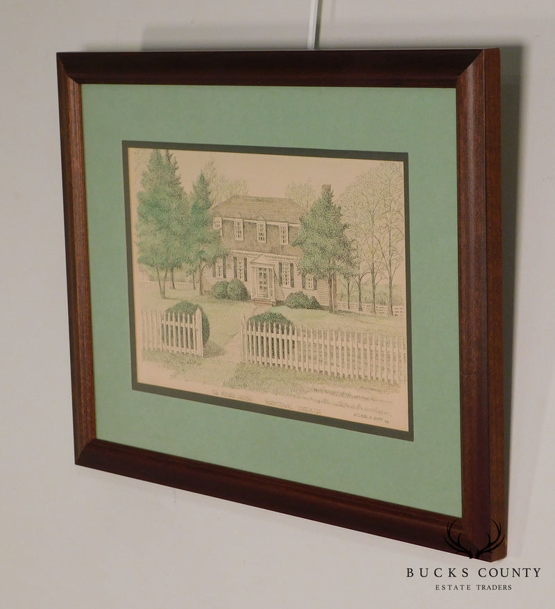 "Clark M. Goff Framed Print ""The Moore House, Yorktown, VA"""