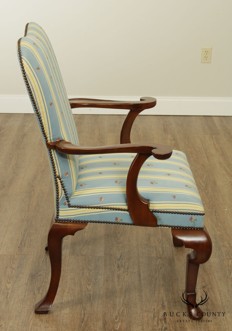 Baker Queen Anne Style Mahogany Armchair – Bucks County ...