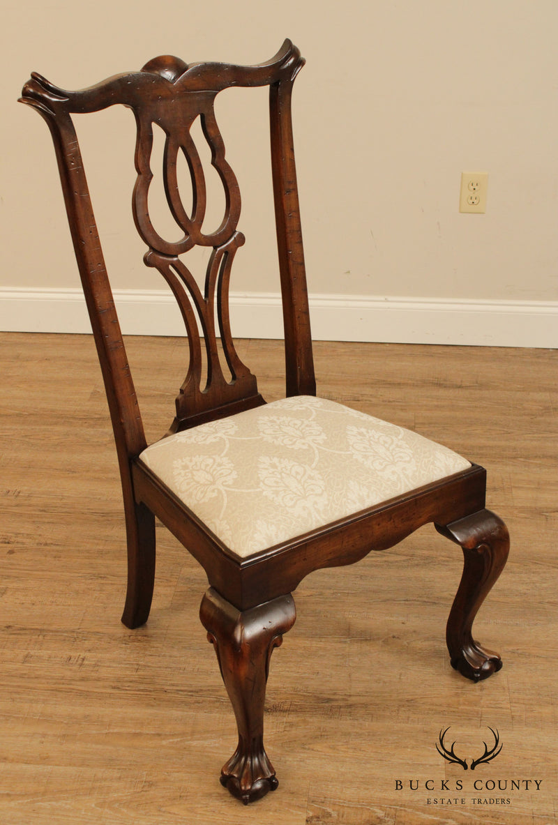 Chippendale Style Quality Set 4 Dining Chairs