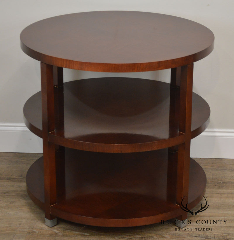Baker Barbara Barry Round Tiered Side Table