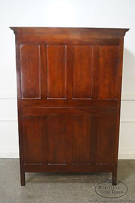 Kindel Winterthur Mahogany French Louis XV Style Armoire Linen Press