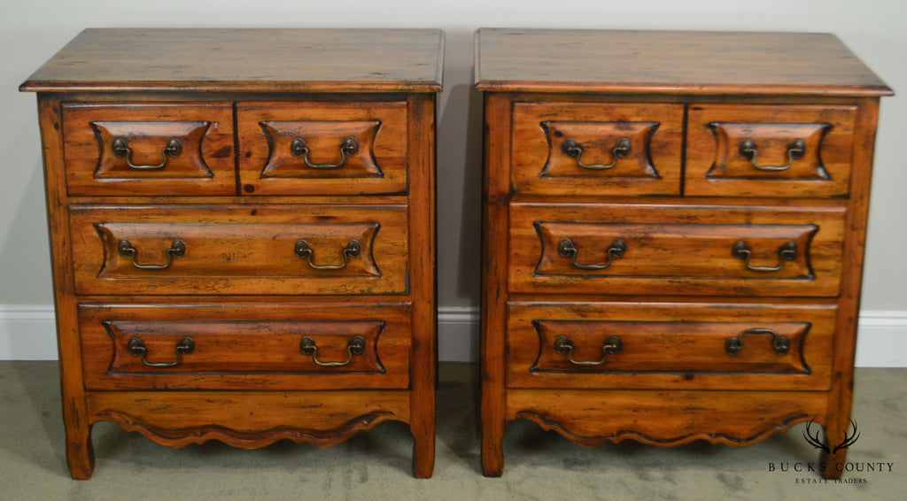 Habersham Plantation Pair Distressed Pine French Country Style