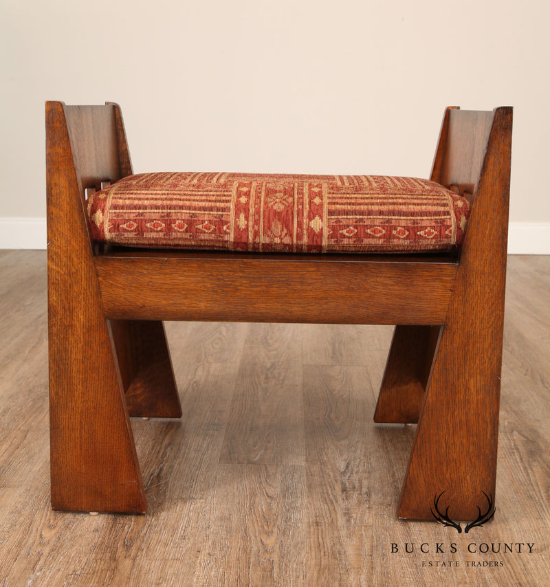 "Stickley Mission Collection Oak ""Limbert Bench"""
