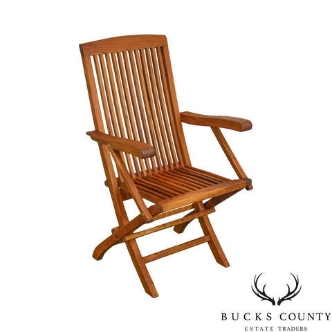Solid Teak Wood Folding Desk Chair