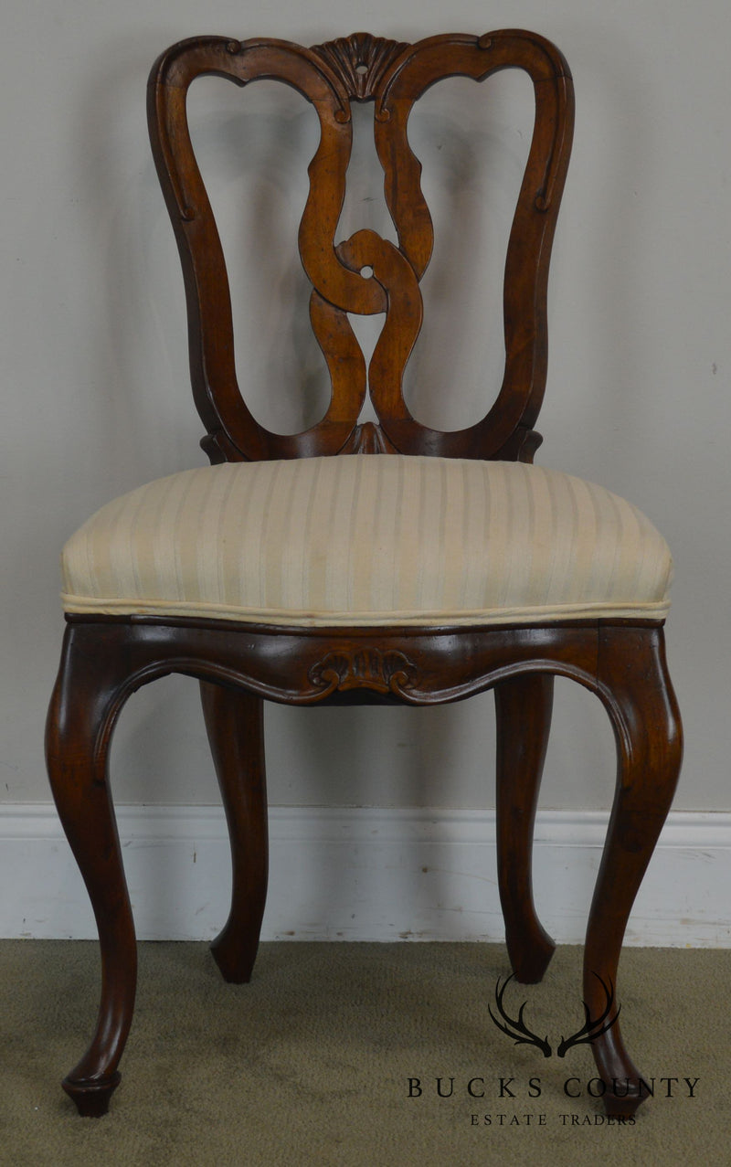 Picture of: French Country Style Vintage Walnut Side Or Desk Chair Bucks County Estate Traders