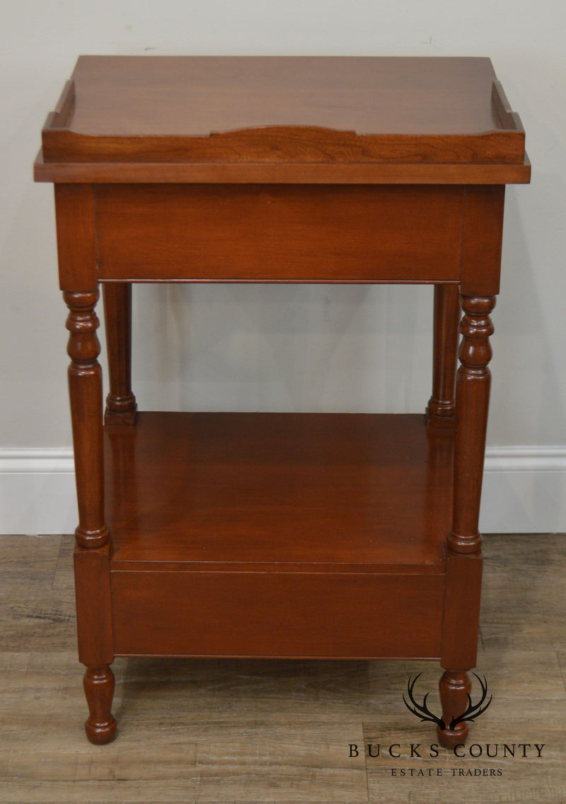 Colonial Craft Vintage Cherry Bench Made Pair Nightstands