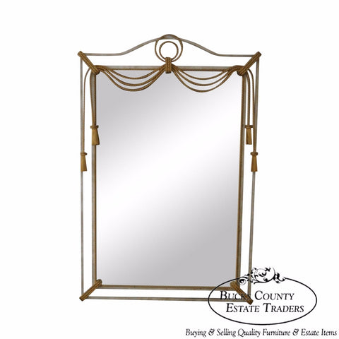 Metal Frame Mirror w/ Gilt Tassels