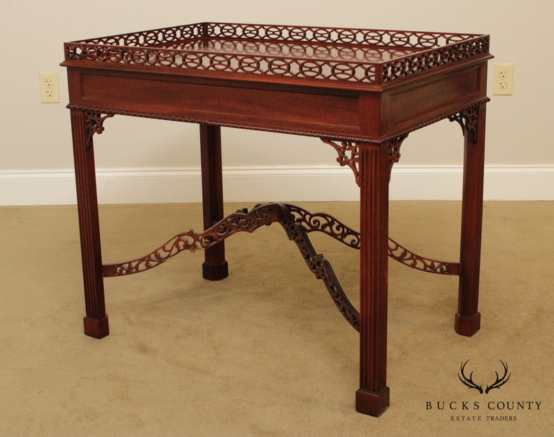 Kittinger Mahogany Chippendale Style Tea Table
