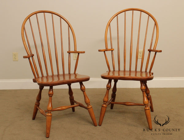 Conant Ball Vintage Quality Pair Maple Windsor Chairs