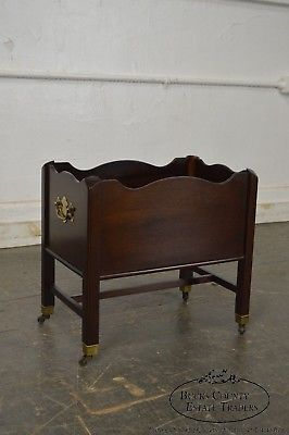 Madison Square Solid Mahogany Chippendale Style Magazine Stand