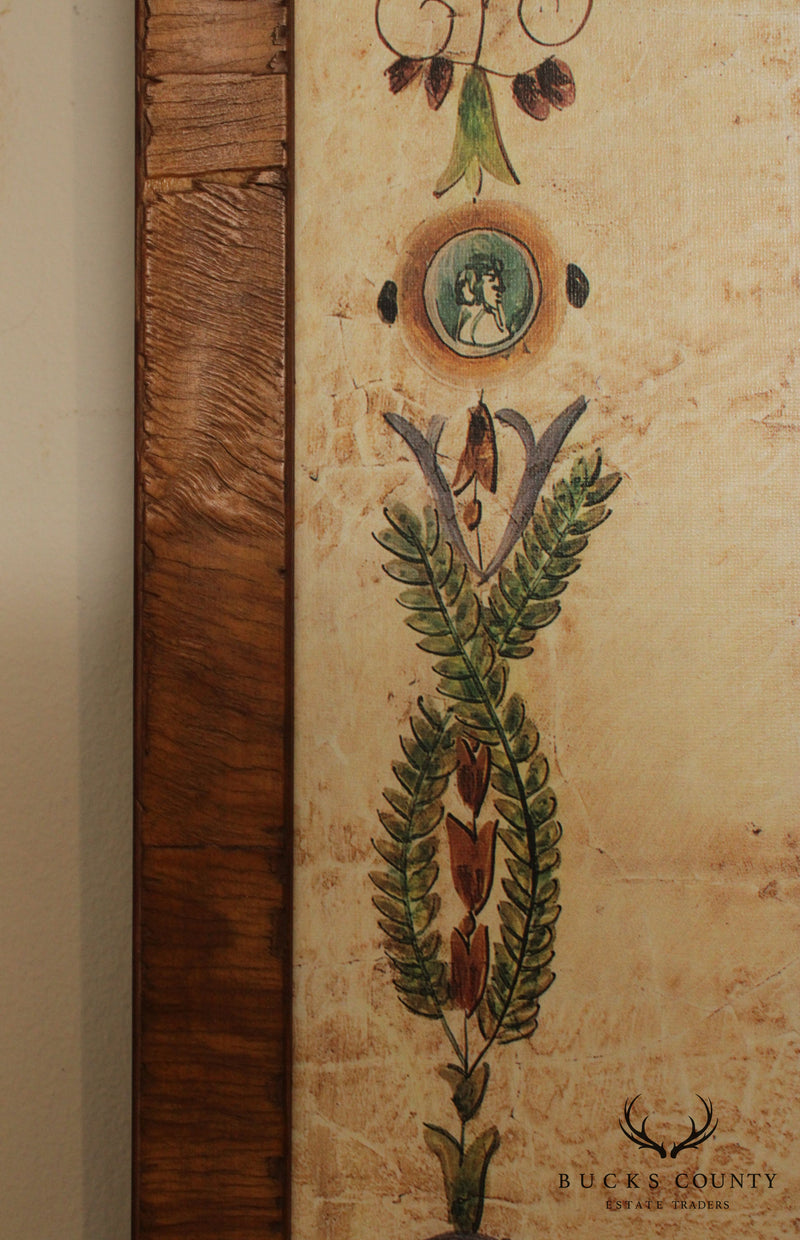 Walnut Frame Italian Decorative Wall Hanging