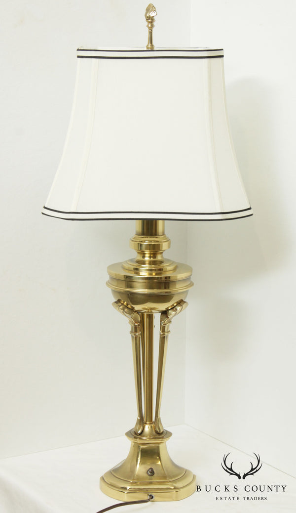 Stiffel Vintage Brass Table Lamp with Shade