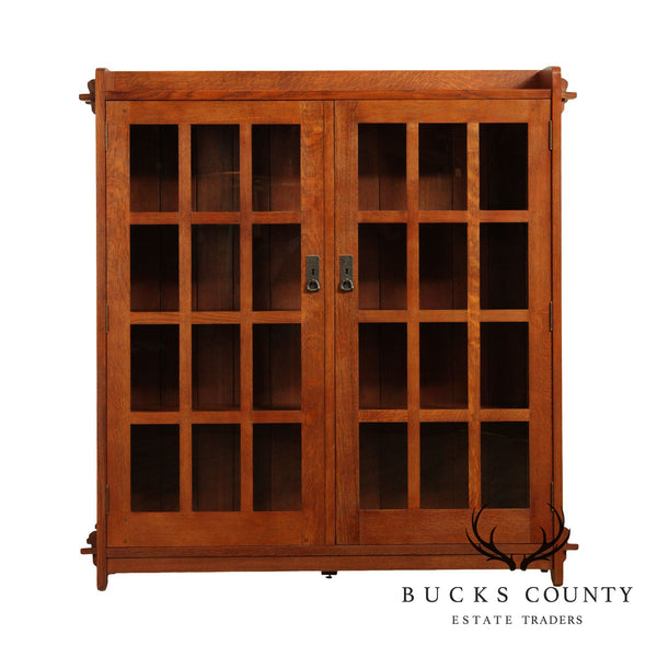 Stickley Mission Collection Oak 2 Door Bookcase