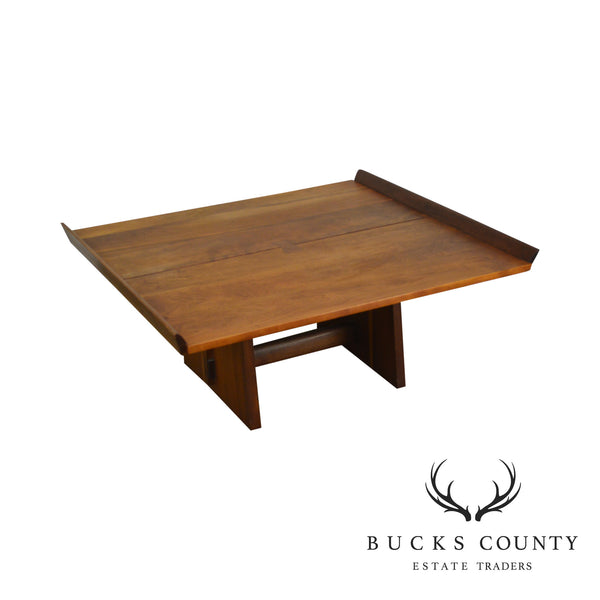 George Nakashima Studio Cherry and Walnut Milk House Coffee Table