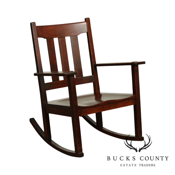 Stickley Brothers Antique Mission Oak Rocker