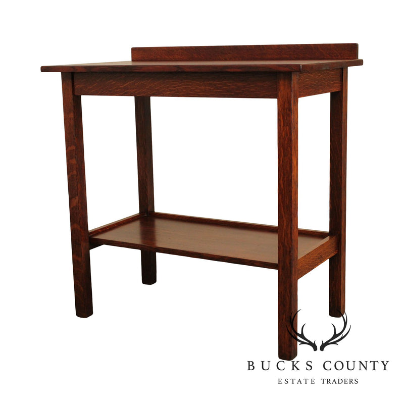 Stickley Brothers Antique Mission Oak Server Console Table