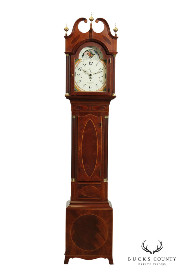 Sligh Thomas Harland, Henry Ford Museum Mahogany Inlaid Grandfather Clock