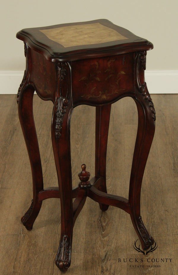 French Rococo Style Paint decorated Plant Stand, Side table