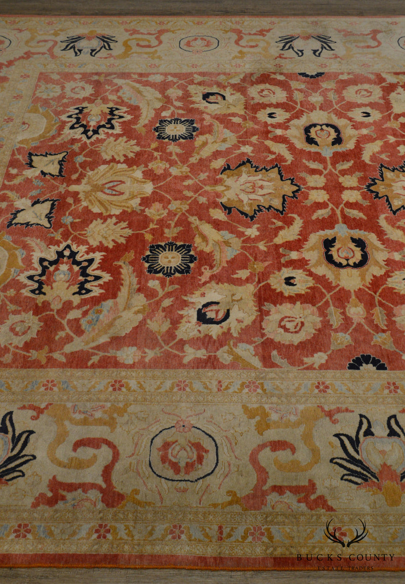 8' x 12' hand Tied Peach & gold Multicolor Room Size Rug