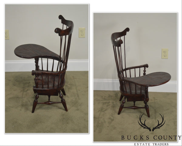 Windsor Style Miniature Childs Writing Arm Chair by K. Malone (18th Century Reproduction)