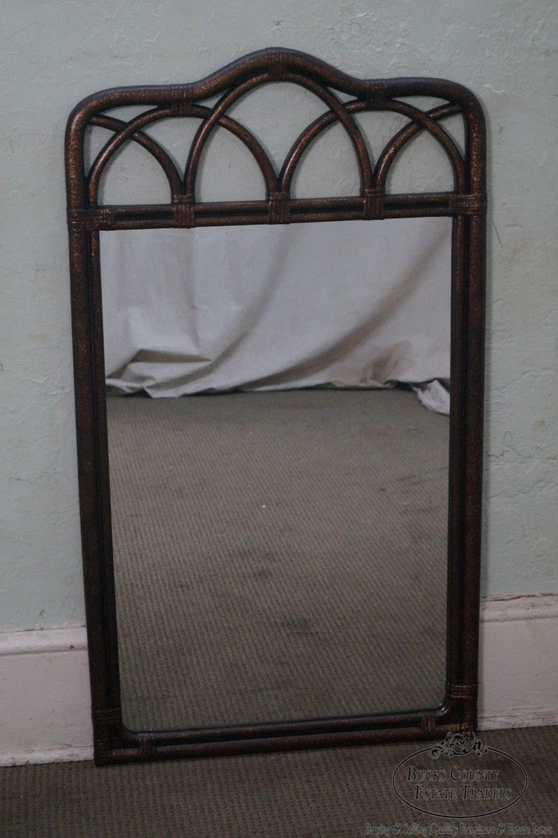 "Drexel Heritage ""Malay"" Collection Faux Bamboo Painted Wall Mirror"