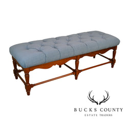 Pennsylvania House Traditional Cherry Wood Long Bench with Upholstered Seat