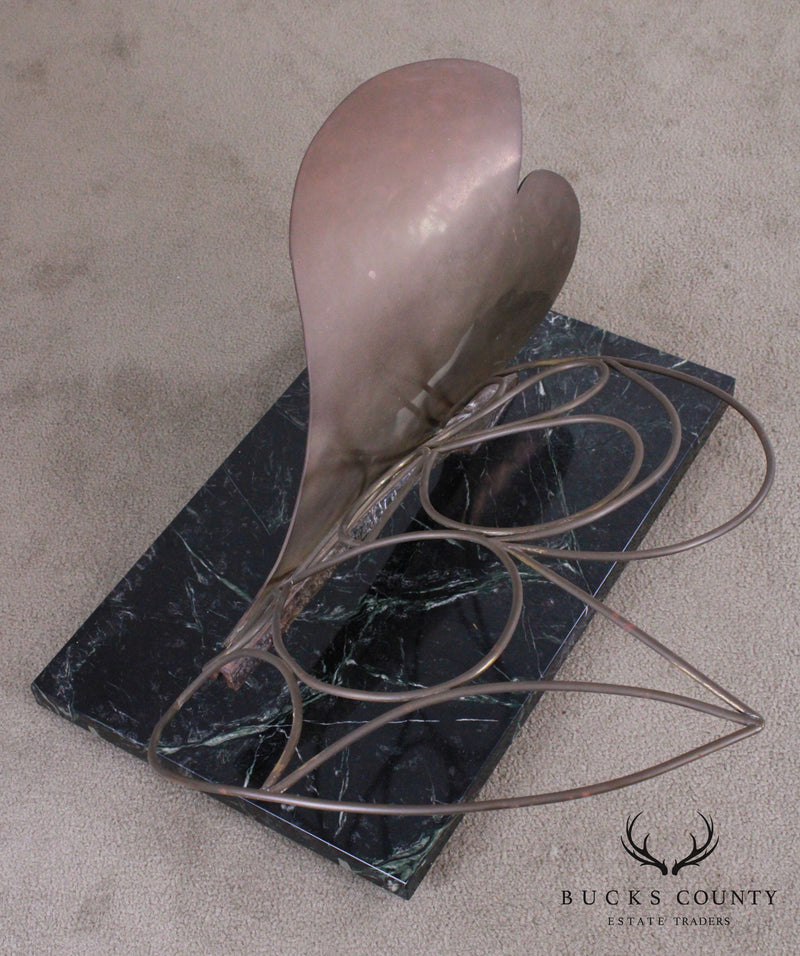 Postmodern Bronze Abstract Sculpture