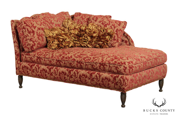 Stanford Furniture, Custom Upholstered Regency Chaise Lounge