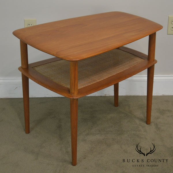 Peter Huldt for France and Sons Teak Danish Modern 2 Tier Side Table