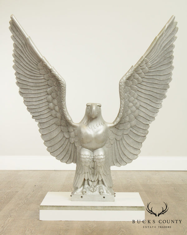 Art Deco Vintage Large Winged Eagle Sculpture