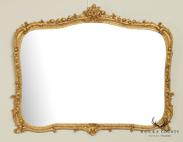 "Friedman Brothers ""The Beaupre"" Rococo Style Carved Gilt Frame Beveled Mirror"
