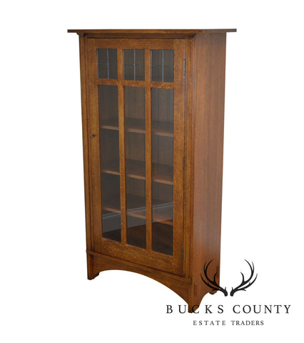 Stickley Mission Collection Oak Single Door Bookcase