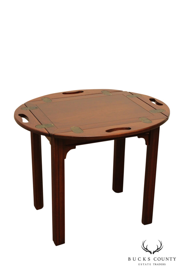 Harden Vintage Cherry Chippendale Butlers Style Side Table