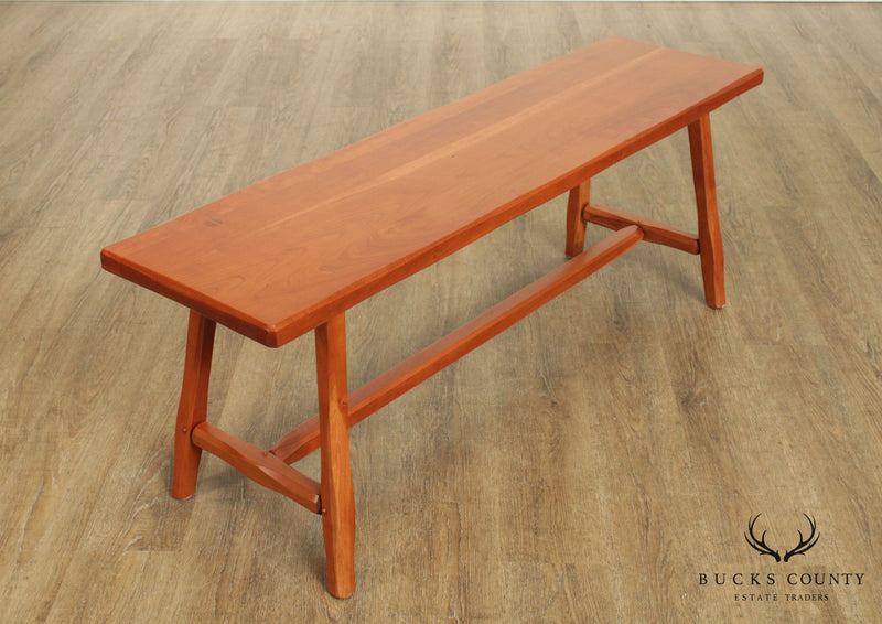 Hunt Country Furniture Solid Cherry Wood Bench
