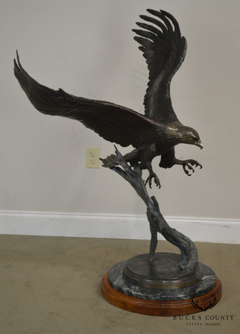 Geoffrey C. Smith American Legacy Large Bronze Bald Eagle in Flight Statue