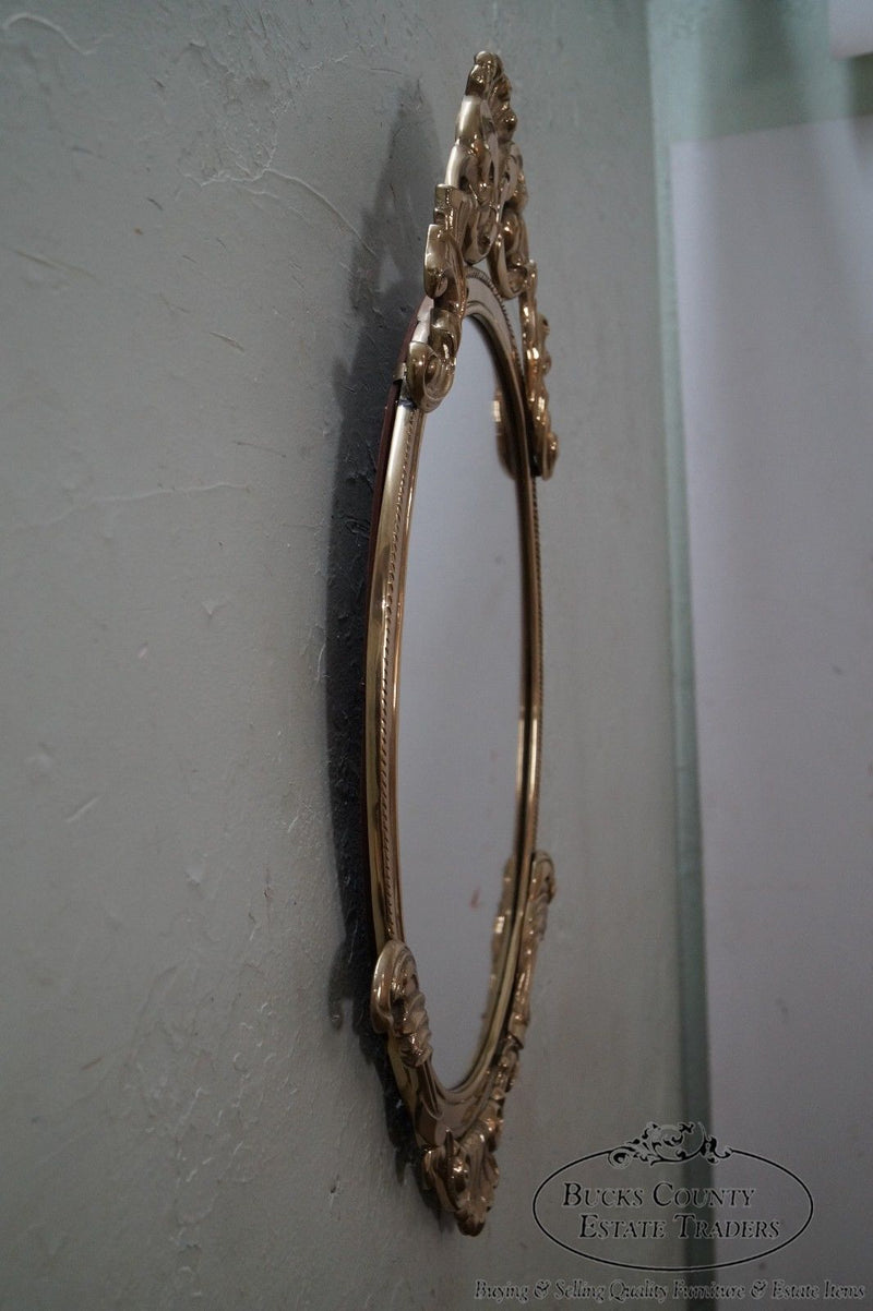 Solid Brass French Louis XV Style Wall Mirror
