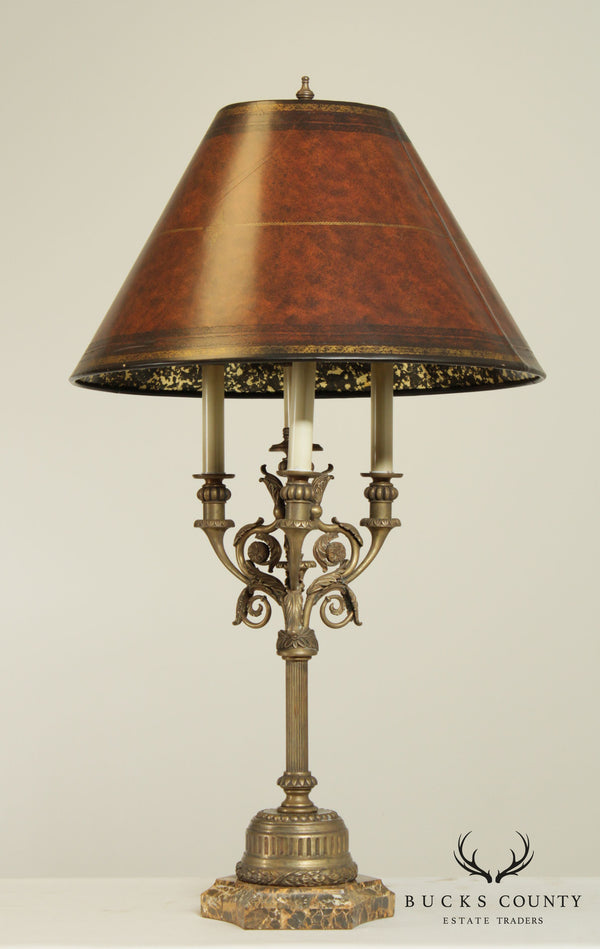 Maitland Smith Bronze French Louis XV Style Table Lamp