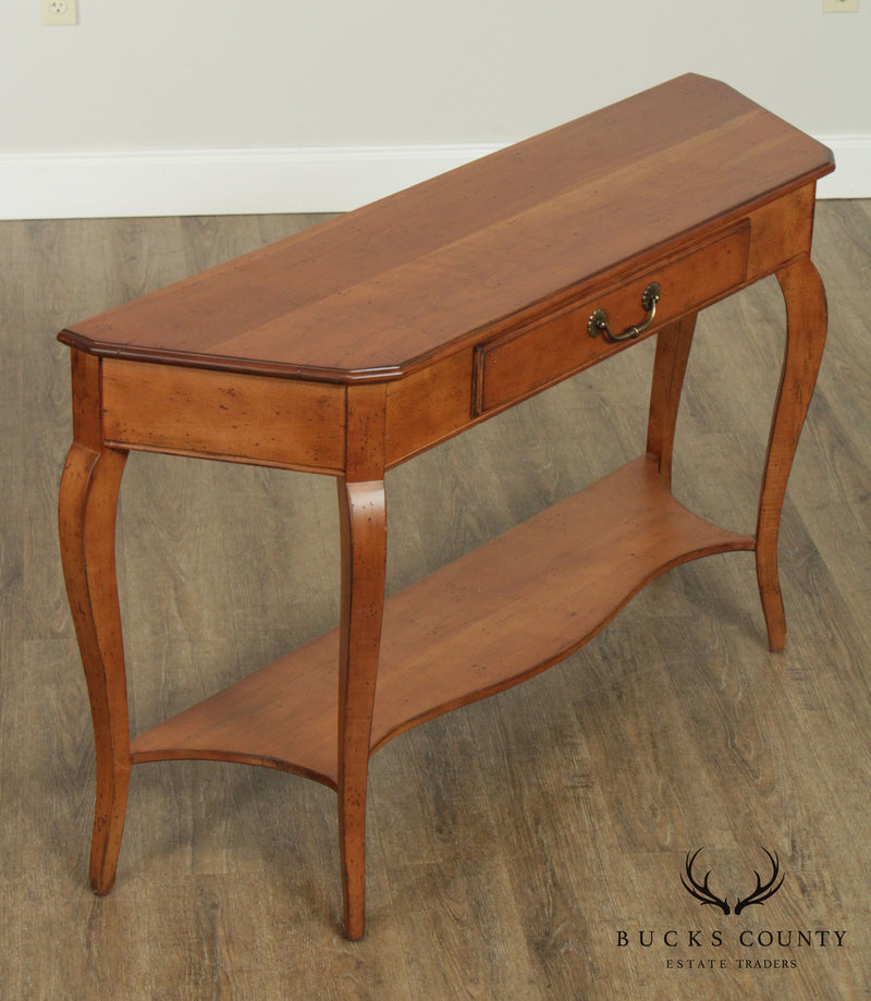 Superior Furniture French Country Style Cherry One Drawer Console Table