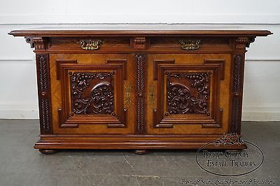 Exceptional Quality Renaissance Revival 19th Century Aesthetic Carved Sideboard