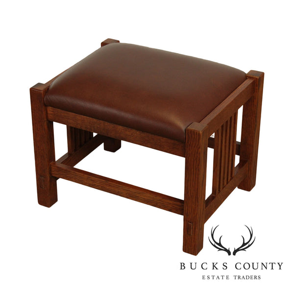Stickley Mission Collection Oak Footstool Ottoman