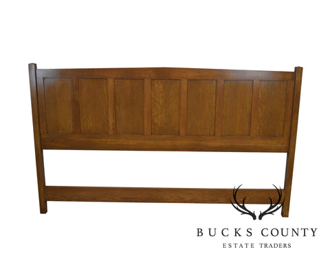 Mission Style Custom Crafted Oak King Size Headboard