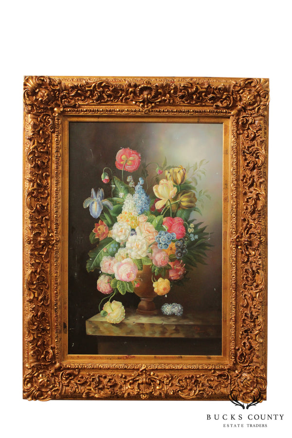 Deb Pearce Still Life Oil Painting on Canvas, Flowers
