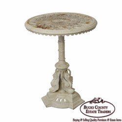 Antique Victorian Aesthetic Cast Iron Round Garden Table
